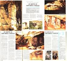 LES GROTTES De SAINT-MARCEL D'ARDECHE ( ARDECHE ) 1970 - Auvergne
