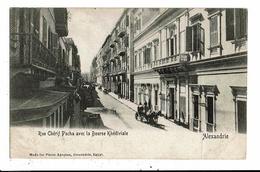 CPA-Carte Postale-Egypte-Alexandrie-Rue Chérif Pacha Avec La Bourse Khédiviale VM10071 - Alexandrie