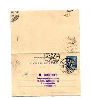 Carte Lettre 15 Sage Cachet Paris 22 - Letter Cards