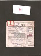 Vrachtbrief Met Stempel : VERTRIJK....  __  ( M) - Belgium