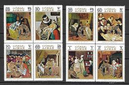 Ajman 1971 Art - Welfare Paintings Ovp LIONS MNH (T0118) - Künste