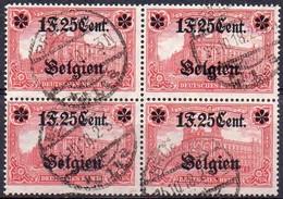 OC23 Oblitéré En Bloc De 4 - Weltkrieg 1914-18