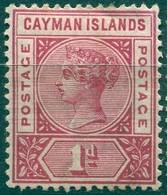Iles Caïmans - 1901 - Yt 2 - Victoria - * TC - Cayman Islands