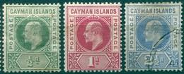 Iles Caïmans - 1902/1903 - Yt 3 - 4 - 5 - Edouard VII - * TC - Le 5 Est Oblitéré - Iles Caïmans