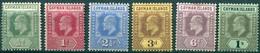 Iles Caïmans - 1908 - Yt 21 - 22 - 23 - 24 - 26 - 27  - Edouard VII - * TC - Iles Caïmans
