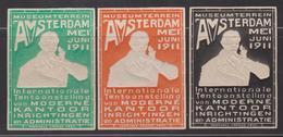 Nederland Amsterdam 1911 / 6 Vignetten In Reliëf - Internationale Tentoonstelling Kantoor Inrichting - Altre Esposizioni Internazionali