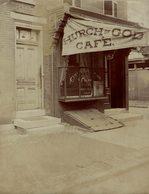 PHILADELPHIA PRESS BUREAU USA CHURCH OF GOD CAFE 20*15CM Fonds Victor FORBIN 1864-1947 - Lugares