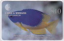 DIEGO GRCIA , DGA-R-81 , $10 POMACENTRUS CAERULEUS ( Fish ) , MINT , CN  00100 - Diego-Garcia