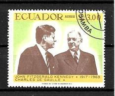 EQUATEUR 1967 GENERAL DE GAULLE  YVERT N°A488 OBLITERE - De Gaulle (Generaal)