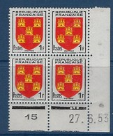 "FR Coins Datés  YT 952 "" Armoiries Du Poitou "" Neuf** Du 27.6.53 - 1950-1959"