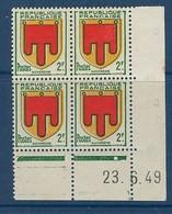 """FR Coins Datés  YT 837 """" Armoiries D'Auvergne """" Neuf** Du 23.6.49 - 1940-1949"""