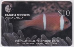 DIEGO GRCIA , DGA-R-82 , $10 AMPHIPRION CHARGOSENSIS ( Fish ) , MINT , CN  00100 - Diego-Garcia