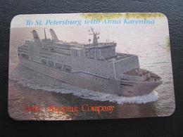 USSR Soviet Russia  Holography Shining Pocket Calendar Baltic Shipping Company Ship  Anna Karenina 1992 - Calendars