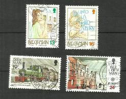 Ile De Man N°420, 421, 425, 434 Cote 4.55 Euros - Isle Of Man