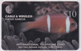 DIEGO GRCIA , DGA-R-84 , $10 AMPHIPRION CHARGOSENSIS ( Fish ) , MINT , CN  09544 - Diego-Garcia
