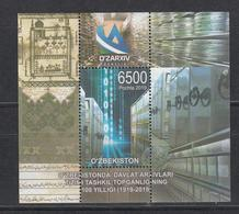 Uz 1392 Bl. 99 Uzbekistan Usbekistan 2019 Staatsarchiv Block - Uzbekistan