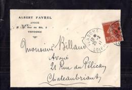 41 - LOIR ET CHER - VENDOME   TàD DE TYPE A4 / 1911 - Cachets Manuels