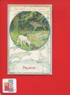 PALMIN Jolie Chromo  LITTERATURE LAFONTAINE Fable La Fontaine Le Loup Et L ' Agneau - Cromos