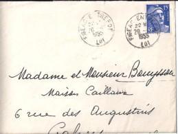46 - LOT - FIGEAC ENTREPOT  TàD DE TYPE A6 / 1955 - Postmark Collection (Covers)