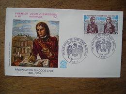 1973 FDC N° 857 Preperation Du Code Civil Napoléon - 1970-1979