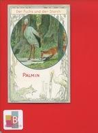 PALMIN Jolie Chromo  LITTERATURE LAFONTAINE Fable La Fontaine  La Cigogne Et Le Renard  FUCHS STORCH - Cromos