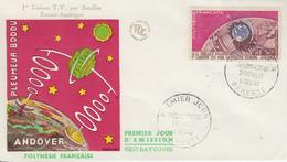 Enveloppe  FDC  1er Jour   POLYNESIE   Communications   Spatiales   1962 - FDC
