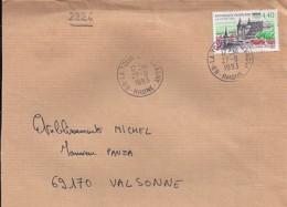 TP N°2826 SUR LETTRE DE 1993 - Marcophilie (Lettres)