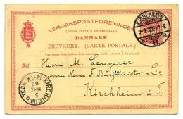 Kjobenhavn- Kopenhagen 1902 Nach  Kirchheim U. Teck - Interi Postali