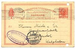 Kjobenhavn- Kopenhagen 1908 Nach  Gütersloh, Wesfalen - Interi Postali