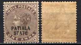 PATIALA - 1891 - EFFIGIE DELLA REGINA VITTORIA - MNH - Patiala
