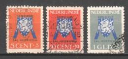 Netherlands Indies 1941 NVPH 290-292 Canceled - Indes Néerlandaises