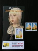 ESPANA 2004 - SPAIN - ISABEL LA CATOLICA - 1931-Today: 2nd Rep - ... Juan Carlos I