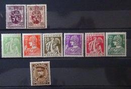BELGIE  1932    Nr.  333 - 334 / 335 - 340 En 341   Spoor Van Scharnier *   CW  14,00 - Neufs
