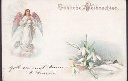 Deutsches Reich PPC Fröhliche Weihnachten Engel Angel No. 6920 BERLIN C. 1904 Heilsarmee Enfacher Rückseite (2 Scans) - Altri