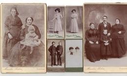 Tarbes. 6 Photos Originales Marcelin Bidou Dont 4 Mini CDV. - Ancianas (antes De 1900)