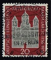 Bund 1956,Michel# 238 O  800 Jahre Abteikirche Maria Laach Mit Berlinstempel - [7] Federal Republic