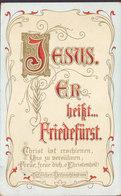 Deutsches Reich PPC Herzlichen Weihnachtsgruss JESUS, Er Heisst Friedefürst LIMB 1907? Heilsarmee (2 Scans) - Altri