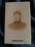 Photo CDV  Bonhotel à Nérac  Portrait Jeune Femme  Tenue De Cavalière  CA 1895  - L241D - Photographs
