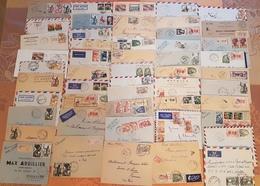 Lot De 100 Enveloppes AEF -AOF - Beaux Affranchisements Et Petits Bureaux - DEPART 1 EURO - Lettres & Documents