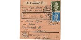 ALLEMAGNE  /  COLIS-POSTAL  /  De Wittenberg Lutherstadt / Pour Kochern ( Cocheren )  / 1-6-43 - Germany