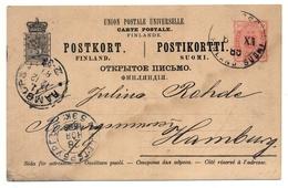 Finnland, Wiborg Wyborg 1889 über Sankt Petersburg Nach Hamburg - Finnland