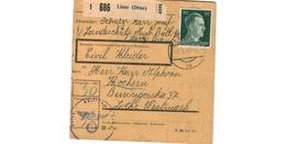 ALLEMAGNE  /  COLIS-POSTAL  /  De Lienz / Pour Kochern ( Cocheren )  / 2-6-43 - Germany
