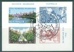 AUSTRALIA - USED/OBLIT. - 22.11.1956 - SOUVENIR MELBOURNE OLYMPIAD XVI - AU48  - Lot 17475 - Blokken & Velletjes