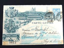France : Entier Postal Carte Lettre: Expo Int.& Coloniale De Lyon 1894 - Lyon