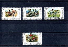 St Kitts-Nevis-Anguilla Nº 258-61 Uniformes Militares, Serie Completa En Nuevo. - Militares