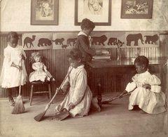 AMÉRIQUE  NIÑOS KIDS CHILDREN ENFANTS  24*19CM Fonds Victor FORBIN 1864-1947 - Fotos