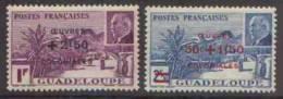 Détail De La Série Maréchal Pétain Surchargés -> Oeuvres Coloniales ** Guadeloupe N° 173 - 174 - 1944 Maréchal Pétain, Surchargés – Œuvres Coloniales