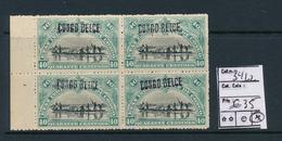 BELGIAN CONGO COB 34L2 LH - 1894-1923 Mols: Mint/hinged