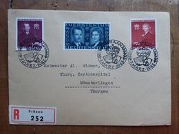 LIECHTENSTEIN - Raccomandata Con Serie Principi 1943 + Spese Postali - Liechtenstein