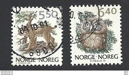 Norwegen, 1991, Mi.-Nr. 1059-1060, Gestempelt - Norwegen
